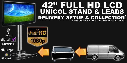 Exhibition Stand Hire Edinburgh : Av hire edinburgh plasma lcd monitor screens hd